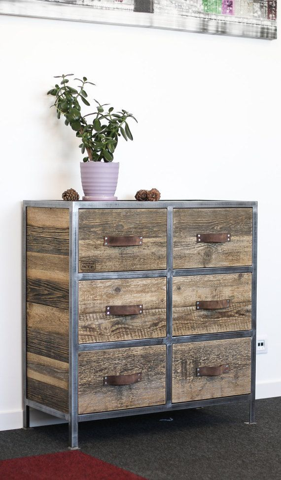 Industrial Dresser, Chest of Drawers, Wardrobe: Rustic Reclaimed ...