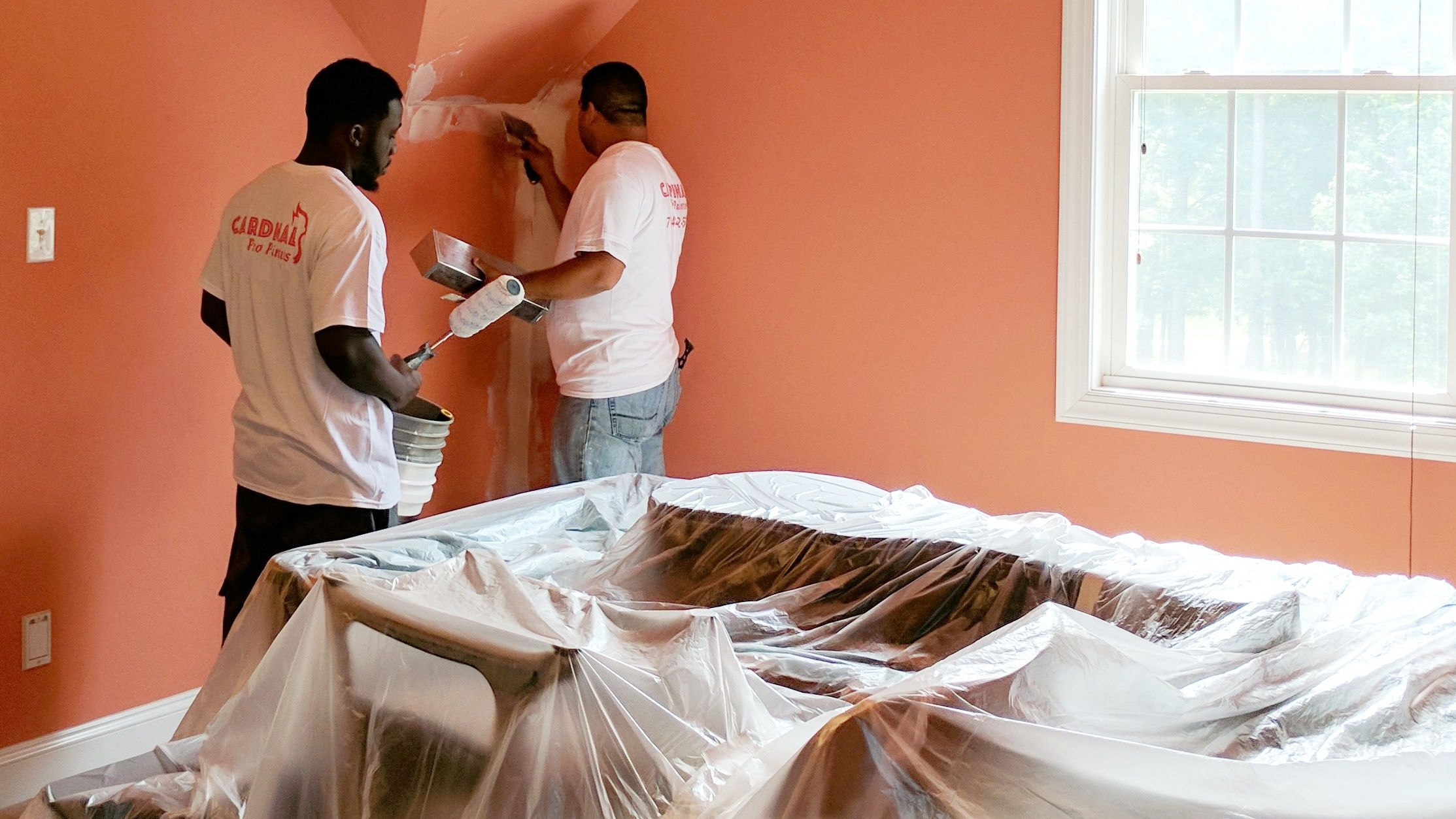 Interior Painting In Charlotte, NC With Cardinal Pro Painters  #InteriorPainting #PaintingContractor #Charlotte