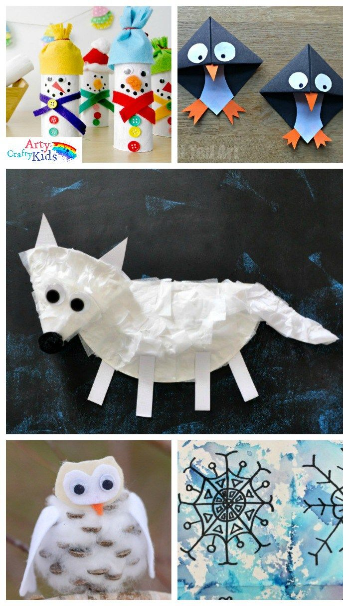 Winter animal art for toddlers