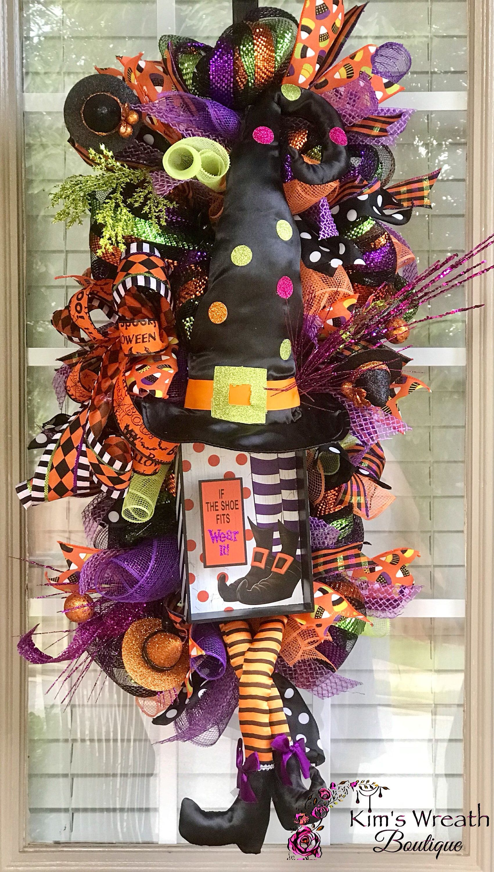 Halloween Wreath, Halloween Swag, Witch Wreath, Halloween Decor - Witch Decorations For Halloween