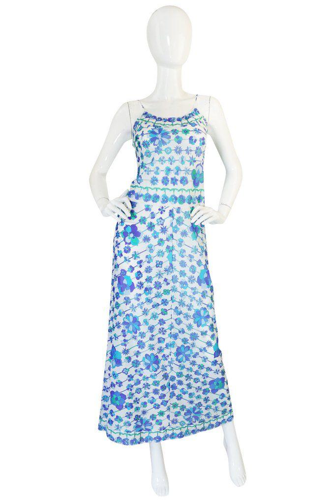 f164dfc75e 1960s Emilio Pucci Formfit Rogers Floral Print Dress Set