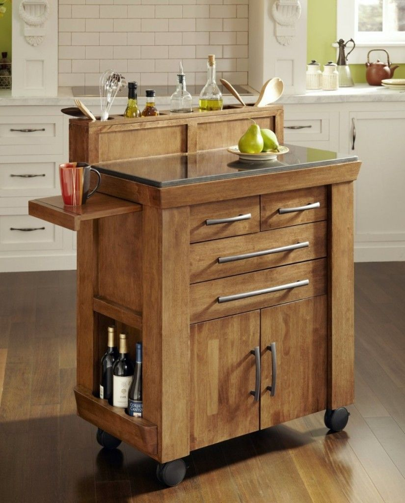 creative small kitchen island applied with wheels appliance also ...