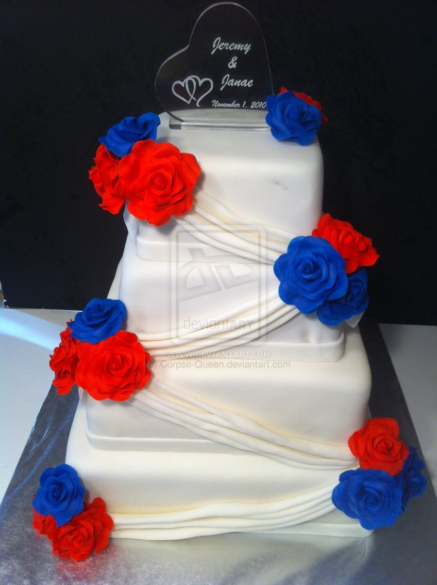 Red White And Blue Cake Ideas