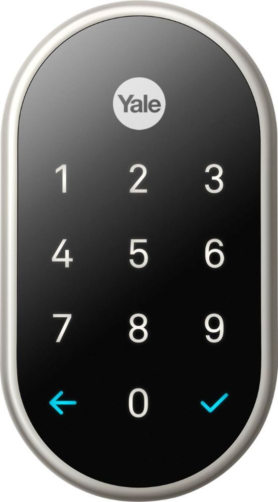 Nest X Yale Smart Lock With Nest Connect Satin Nickel Rb Yrd540 Wv