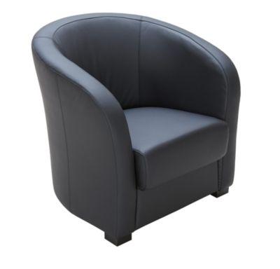 impressionnant petit fauteuil cuir noir