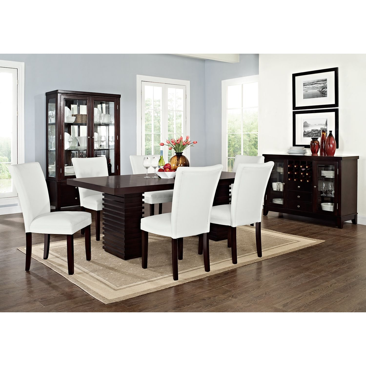Awesome Paragon Caravelle Iv 7 Pc Dining Room Value City Ibusinesslaw Wood Chair Design Ideas Ibusinesslaworg