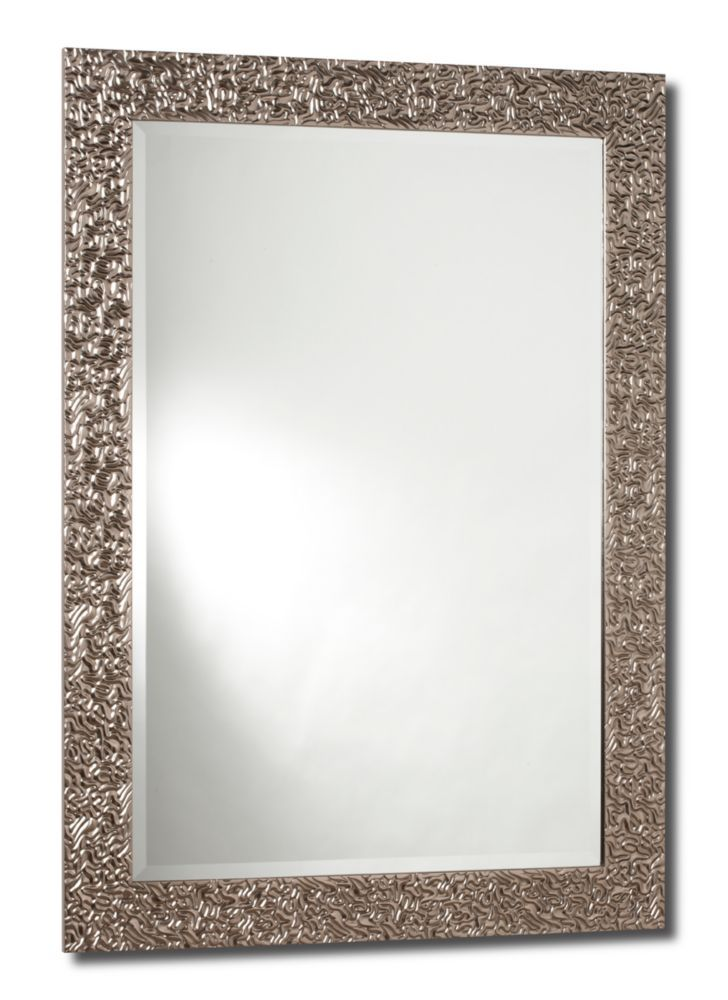 $90 Bathroom Mirror   Home Depot Princess, Sterling Silver Mirror   31 Inch  X 43