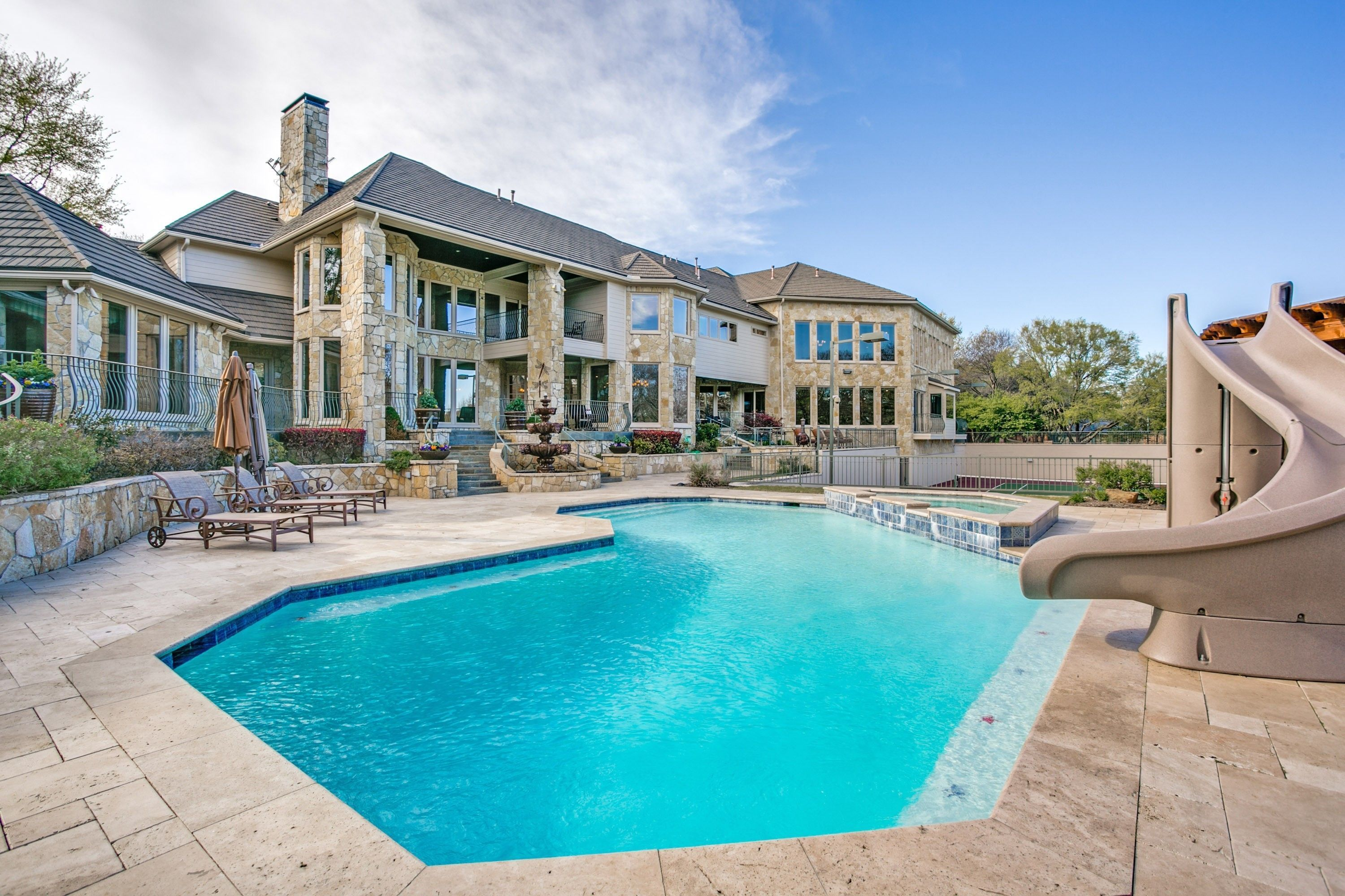 Res Single Family French Traditional Plano Tx Resort Style