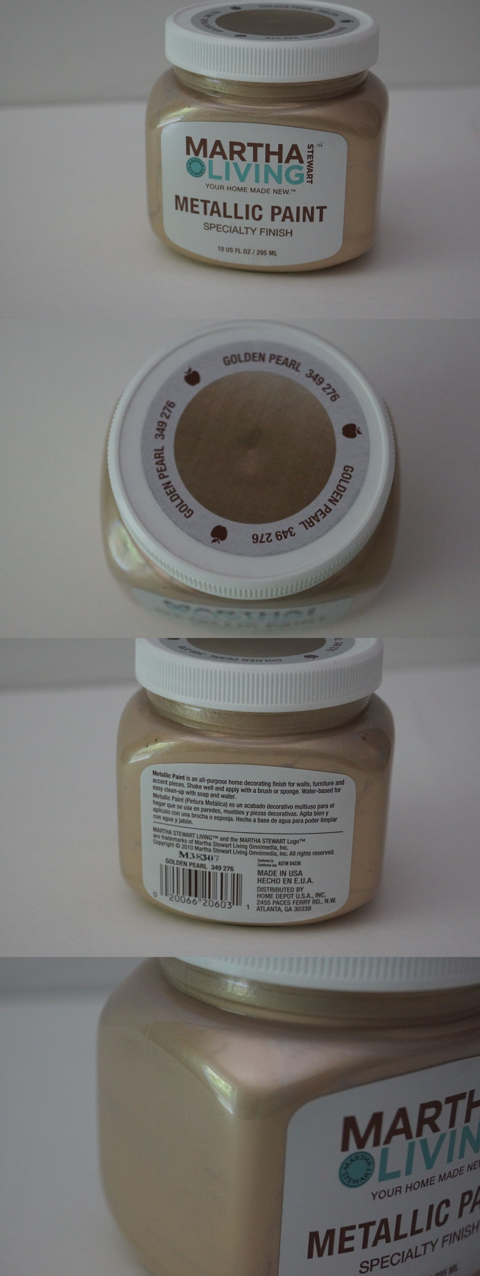 Other Paint And Varnish 180980: New Martha Stewart Living Specialty Metallic  Paint Golden Pearl Discontinued