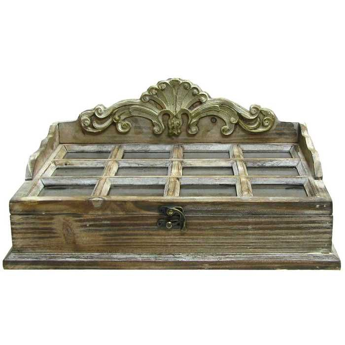 Hobby Lobby Decorative Boxes Antique White 12Window Divider Box With Fancy Top  Window