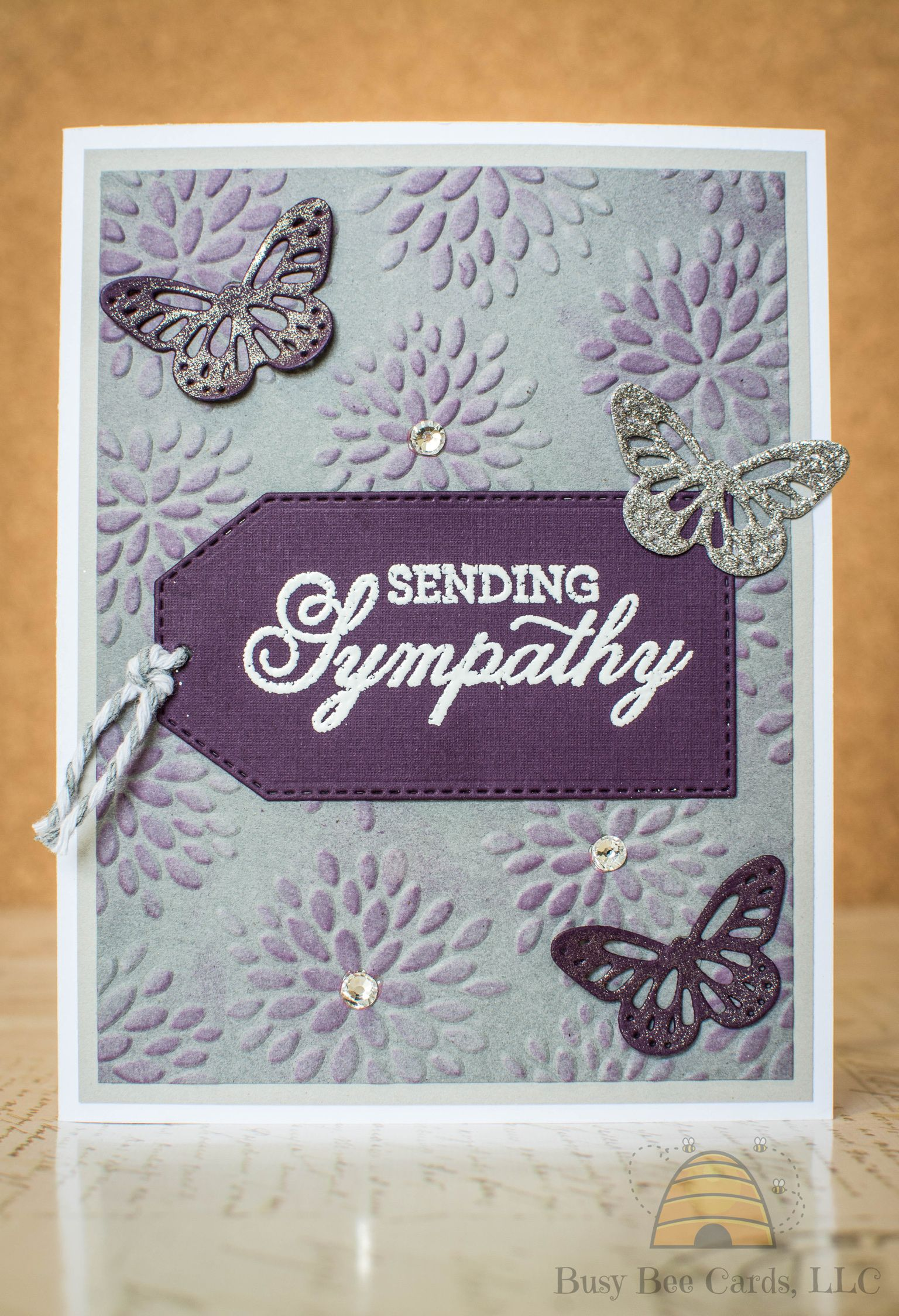 A Year of Sentiments July 2018 Bee cards, Card kit