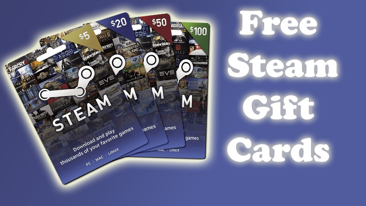 Free Steam Gift Cards | How To Get Free Steam Redeem Code