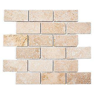 bauhaus 799 mosaikfliese brick inula antique xnt 41210 305 x 30 - Schwarzweimosaikfliese Backsplash