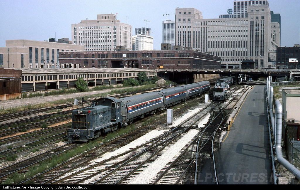 RailPictures.Net Photo: AMTK 748 Amtrak EMD SW8 at Chicago, Illinois by Sam Beck collection