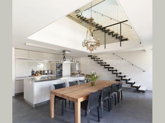 Moderne Kuche Offen Zum Essbereich Im Bauernhaus Moderne Kuche