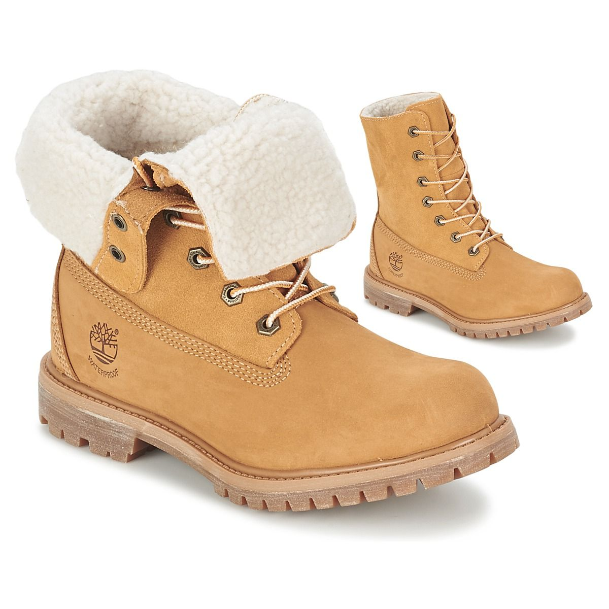 Womens timberland teddy fleece roll down boots | Timberland, Winter  collection and Cold weather