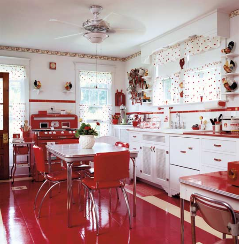 A kitchen like this... Love love love!