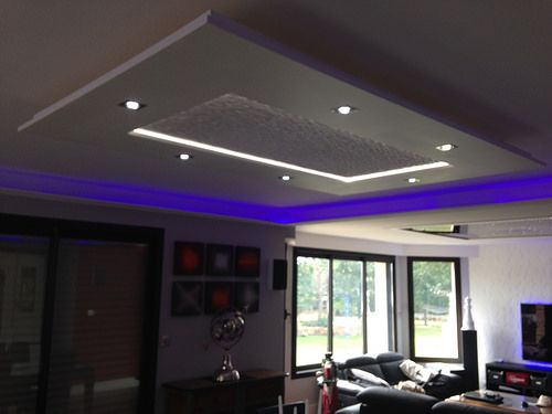 plafond salon staff led pluie de luminaires pinterest plafond led et salon. Black Bedroom Furniture Sets. Home Design Ideas