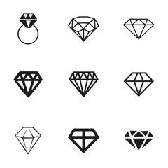 Vecteur : Vector diamond icons set