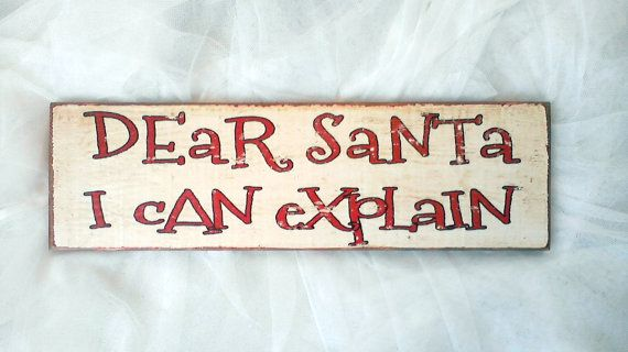 I Can Explain Christmas Sign 5.25 x 18 by JezebelTreasures on Etsy, $19.99