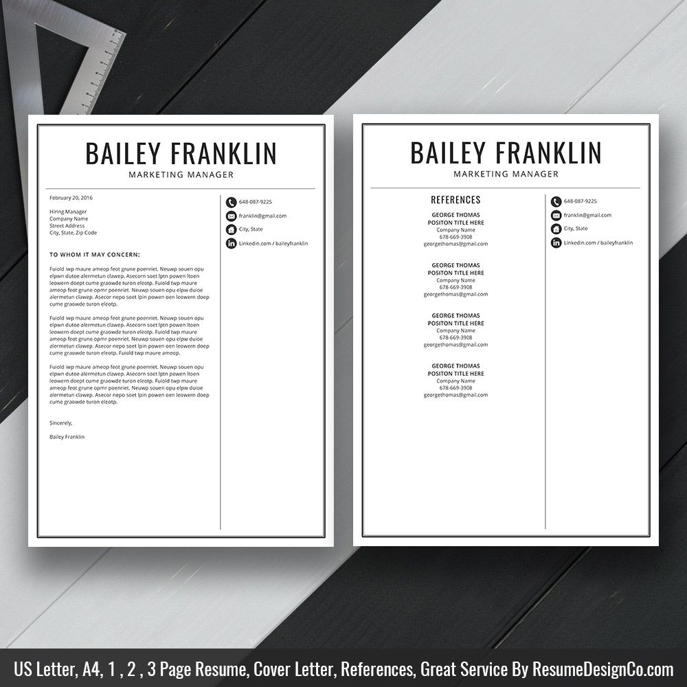 Teacher Resume Template MS Word, Simple and Modern Resume
