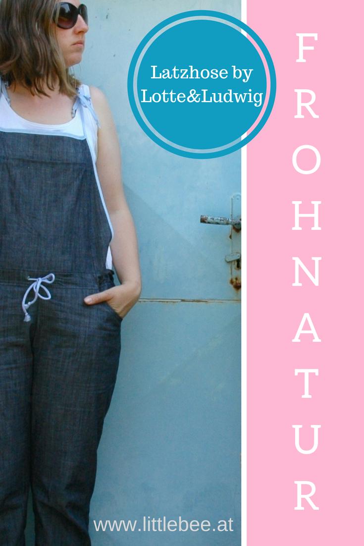 Frohnatur - eine Latzhose zum wohlfühlen | Latzhosen, Schnittmuster ...