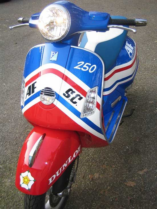d7d569dad red white and blue custom painted scooter