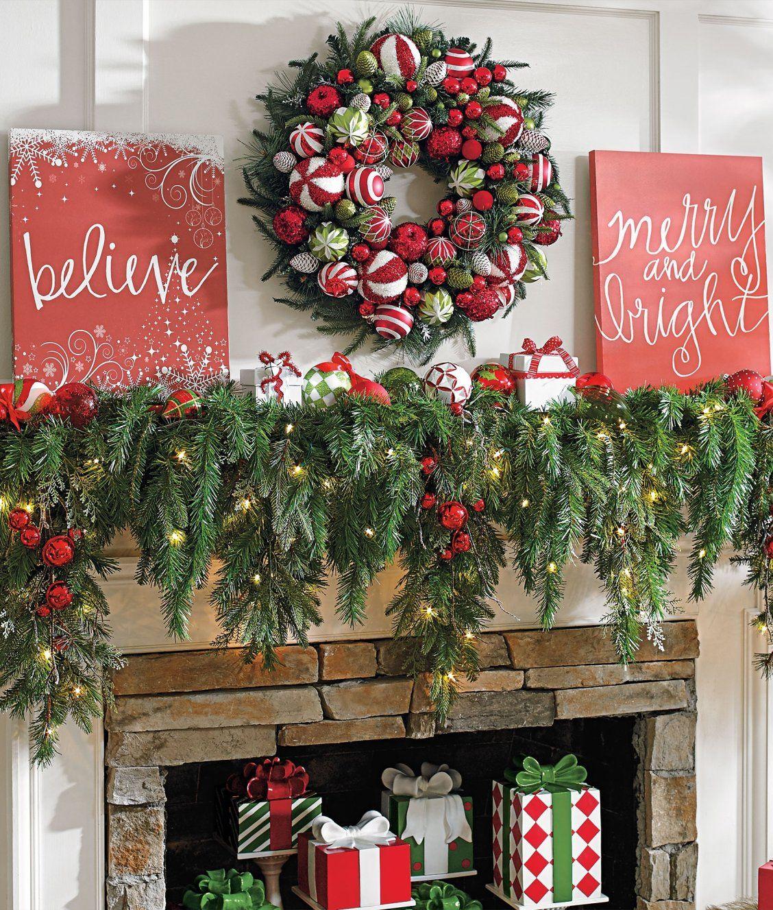 6 u0027 cascading christmas garland mantle garlands and christmas decor
