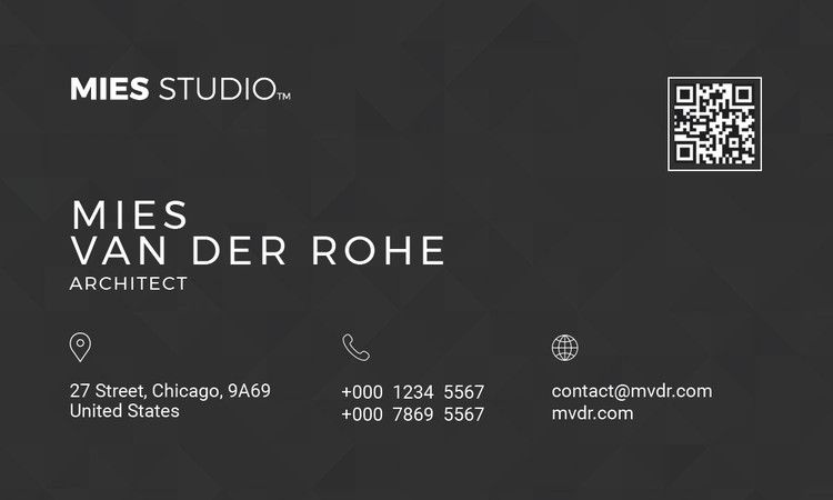 Free business card templates for architects reheart Images