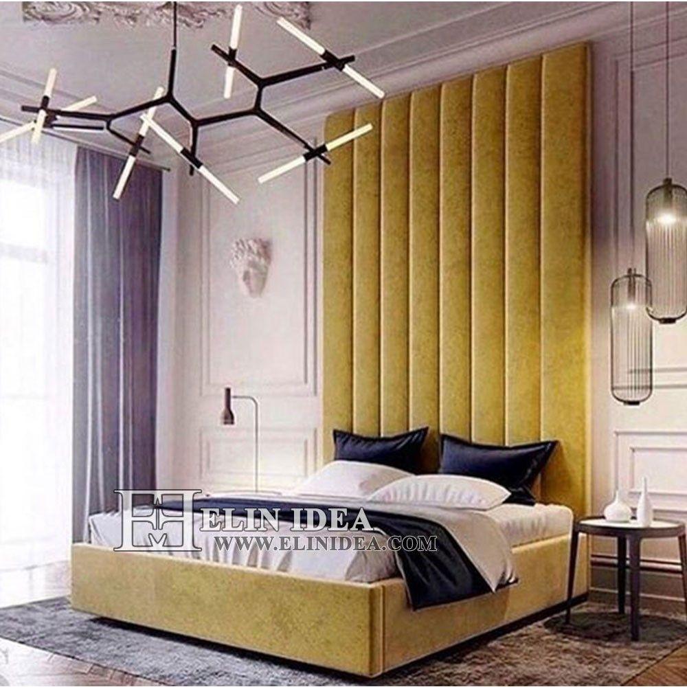 Small Master Bedroom Ideas And Inspirations: اجرای لمسه کاری پشت تخت #لمسه_دیوار_کوب #لمسه_دوزی #لمسه