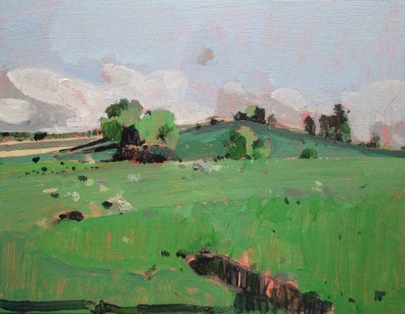 Hidden Place Original Plein Air Summer Landscape by Paintbox