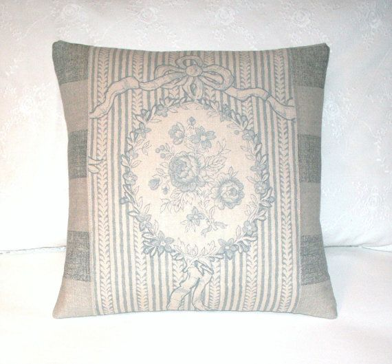 Kate Forman Cameo and Ribbons Cushion Throw Pillow Cover