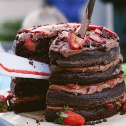 Biggest, chocolatiest, gluten free birthday cake. This show stopper of a cake it perfect for all occasions. Moist & rich, gluten and cane sugar free.... bake to impress.