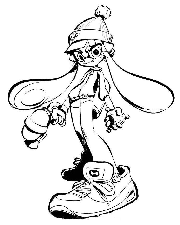 splatoon 2 coloring pages Splatoon 2 Coloring Sheet | *Splatoon* | Coloring pages, Coloring  splatoon 2 coloring pages