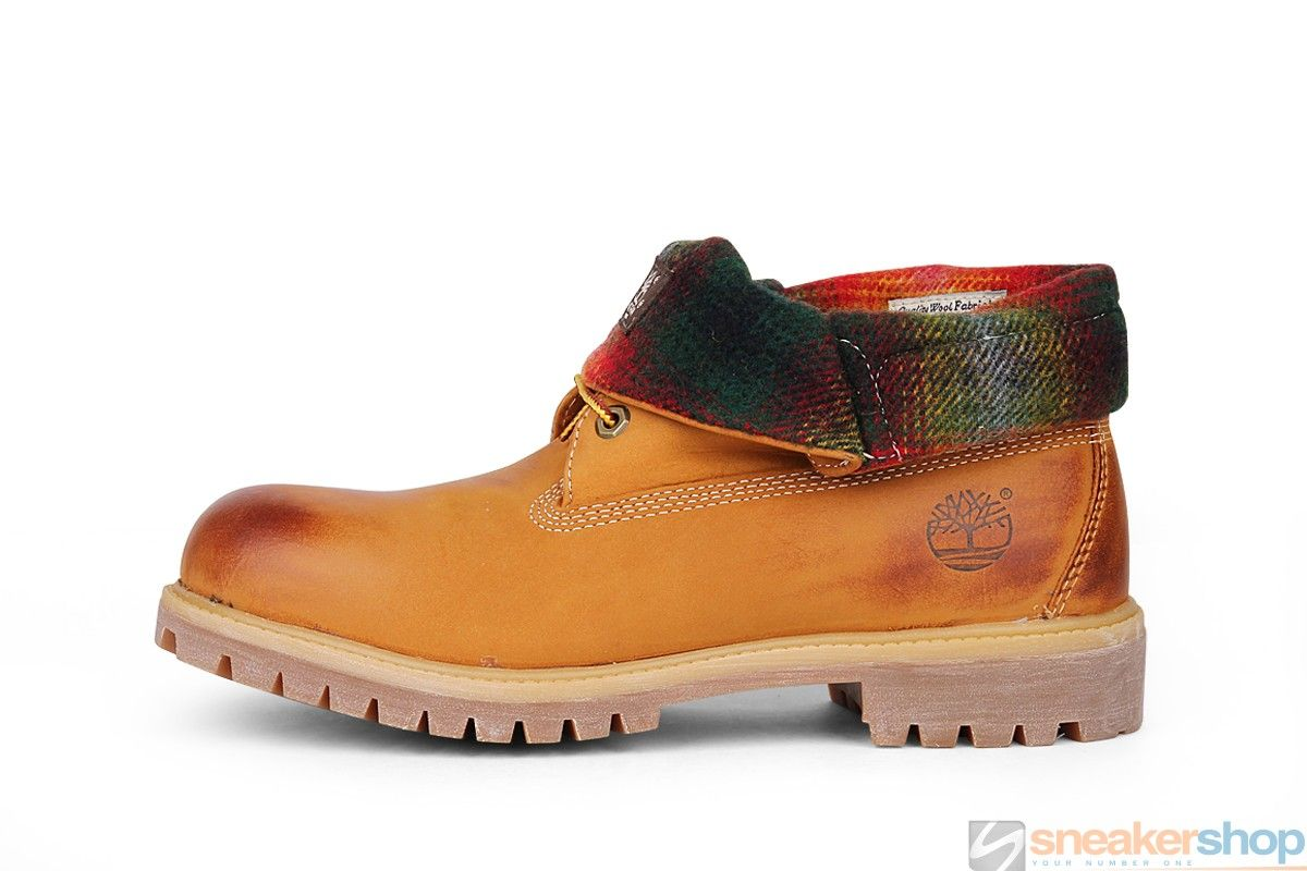timberland icon roll top boots wheat
