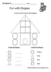 Printable Activities Sheet With Counting And Coloring