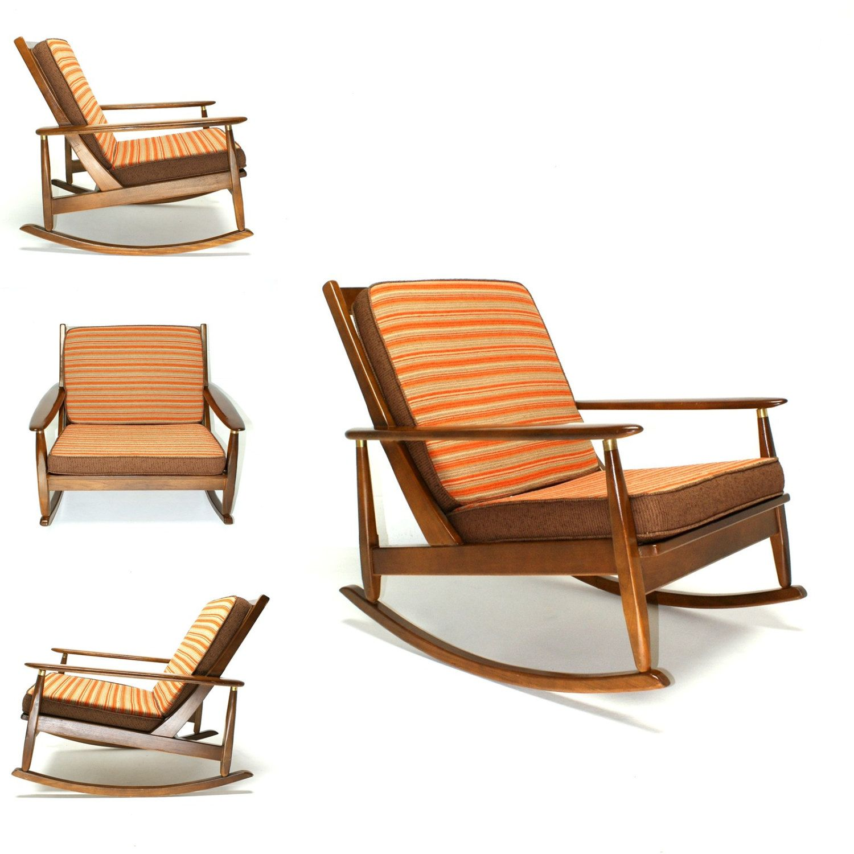The 50s 60s Vintage Rocking Chair Mid Century Danish