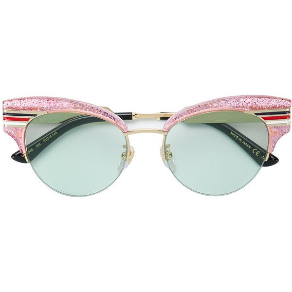 3137a17d6f6 Gucci Eyewear cat-eye striped sunglasses ( 610) ❤ liked on Polyvore  featuring accessories