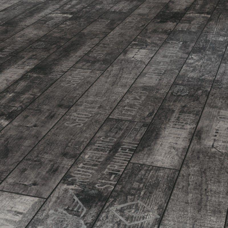 Wine & Fruits Black Laminate Flooring Black laminate