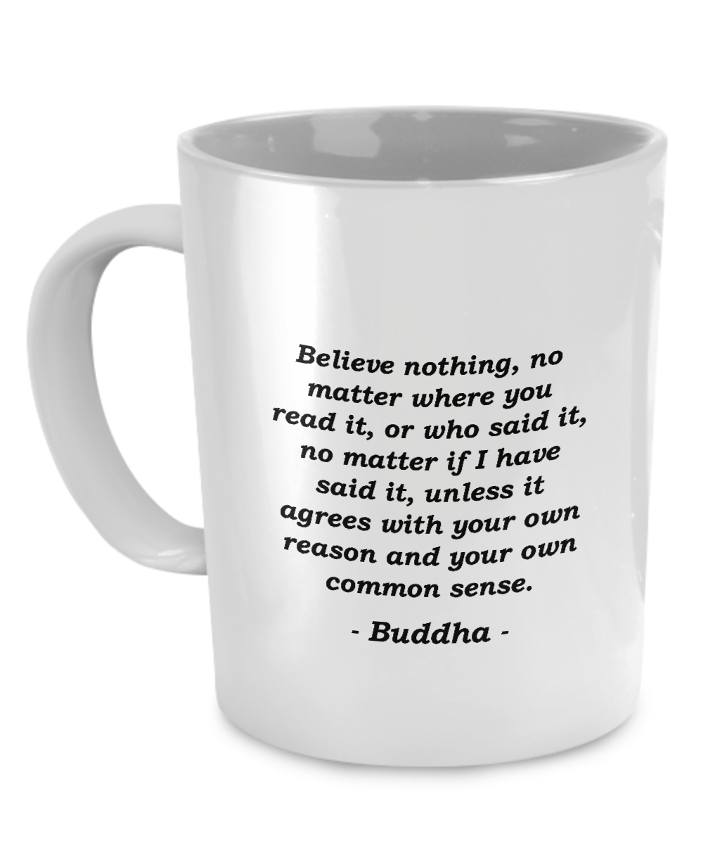 Buddha Common Sense Coffee Mug Mugs, Coffee mugs