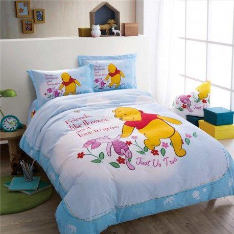 Kinderbettwäsche 3d Bettwäsche Winnie The Pooh Ferkel Hhellblau