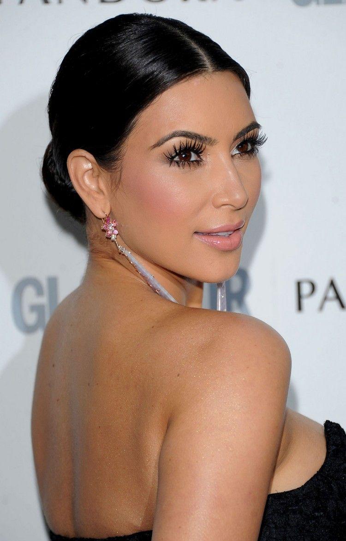 Kim Hairstyle Classic Low Bun Kim Kardashian Hair Kim Hair Sleek Hairstyles