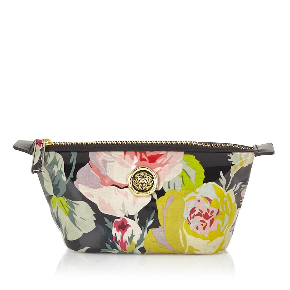 Anna Griffin® Small Cosmetic Bag - Grace Black Florl