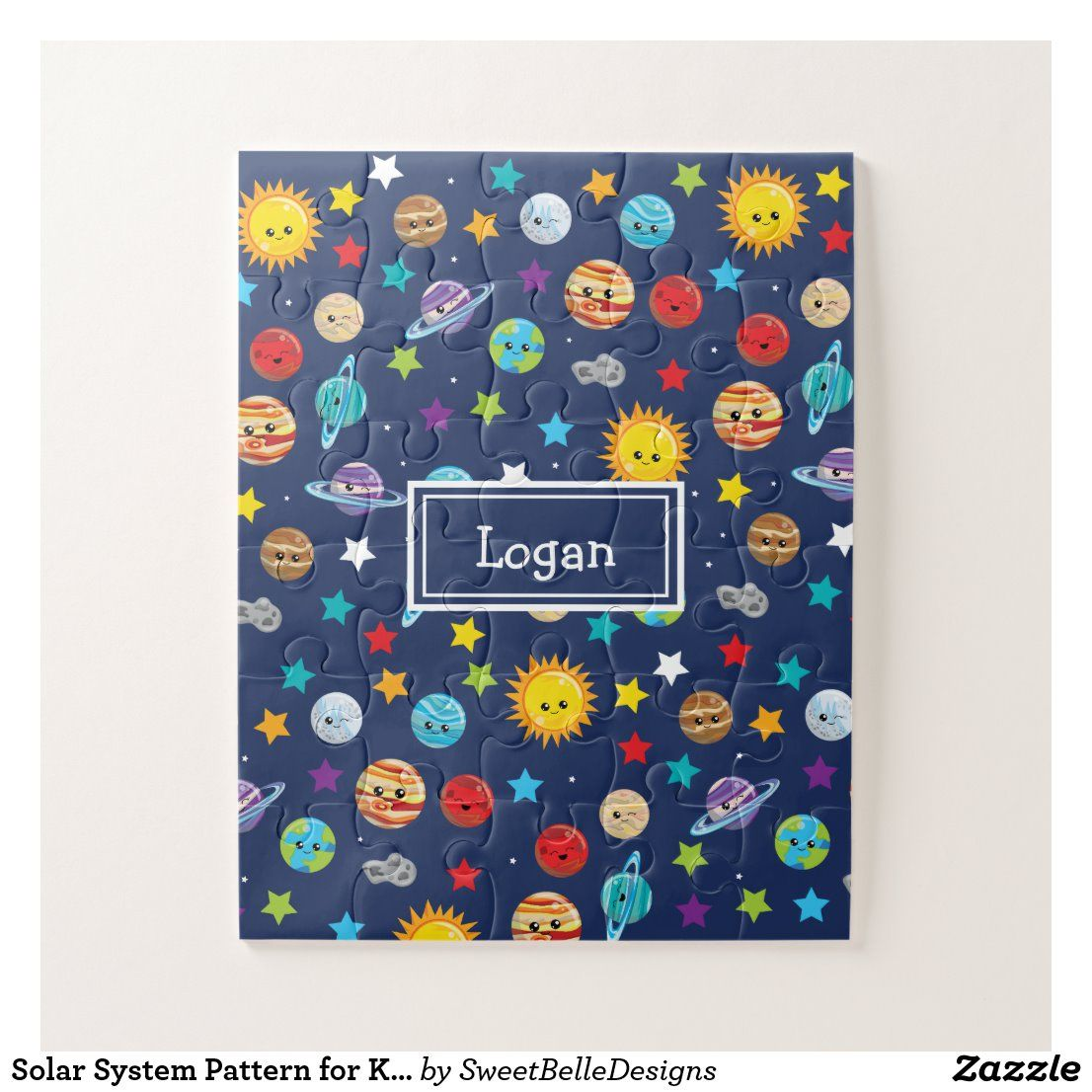 Solar System Pattern For Kids Jigsaw Puzzle