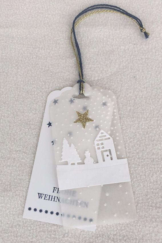 weiße Geschenkanhänger Weihnachten, white Christmas gift tags #weihnachtsmarktideenverkauf