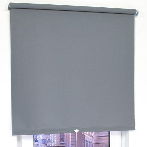 Rollo Tageslicht Zipcode Design Größe: 202 x 180 cm, Farbe: Dunkelgrau
