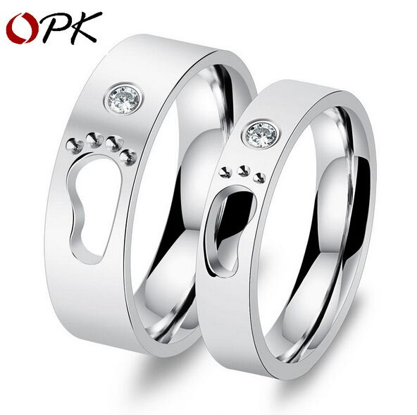 couple women lover engagement wedding anniversary always style rings steel high plated my silver are men heart simple bands stainless for s you weddings item in
