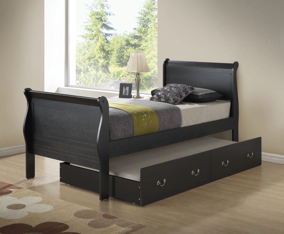 Babcock Sleigh Bed With Trundle Sleigh Beds Bed