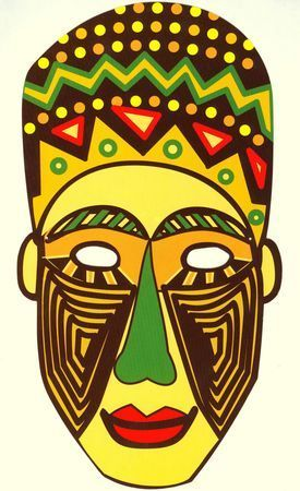 masque africain pour carnaval