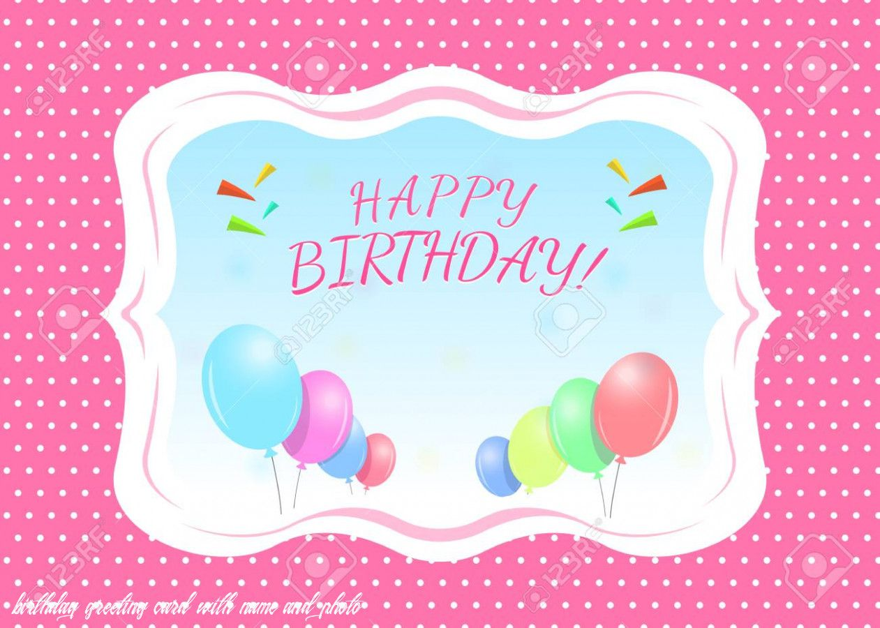Birthday Greeting Card With Name And Photo in 6  Birthday card